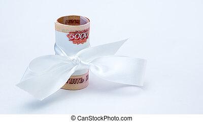 rubel, pengar, gåva