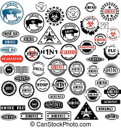 Ruber stamps H1N1 Flu