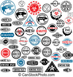 Ruber stamps Swine Flu
