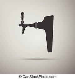 rubinetto birra, icon.