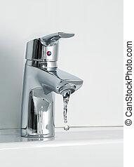 rubinetto dell'acqua, fluente