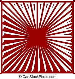 rubino, strisce, v..., sfondo rosso