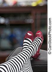 rubis, chaussures