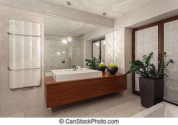 rubis, maison, salle bains, -, contemporain