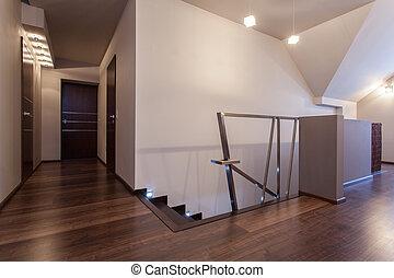 rubis, maison, seconde, -, plancher