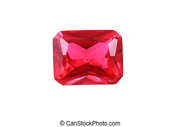 rubis, minéral, isolé