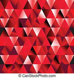 rubis, pattern., résumé, triangle, seamless
