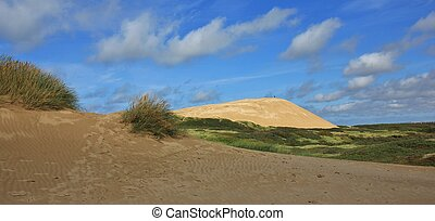 Rubjerg Knude, high sand dune at the west coast of Denmark.