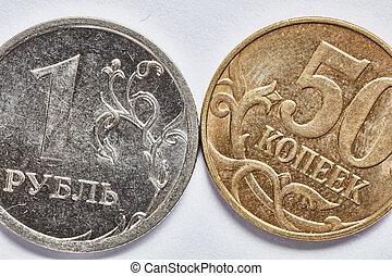 rubl, pièces, macro