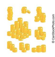 Ruble coin heaps