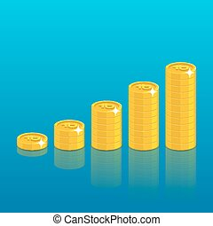 Ruble coin stack