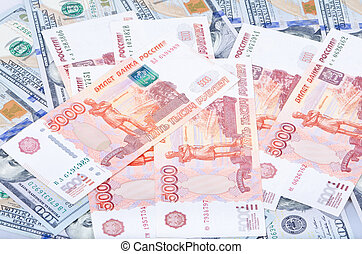 Rubles and dollars