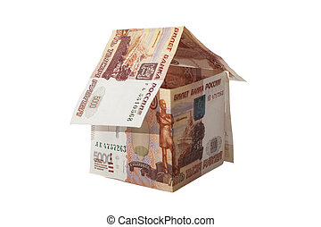rubles, russe, maison, bankno, 5000