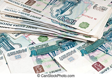 rubles - russian money background