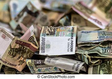 Rubles. Russian money