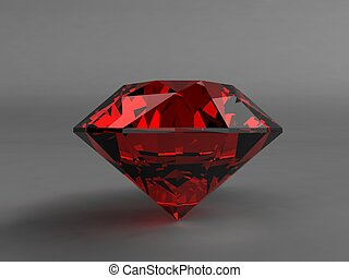 ruby  - 3d rendered illustration of a expensive ruby