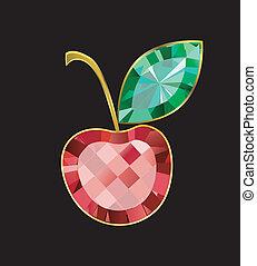 Ruby Cherry - cherry made of gems