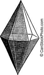 Ruby crystal vintage engraving - Ruby crystal, vintage...