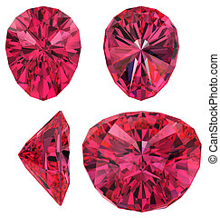 Ruby cut isolated