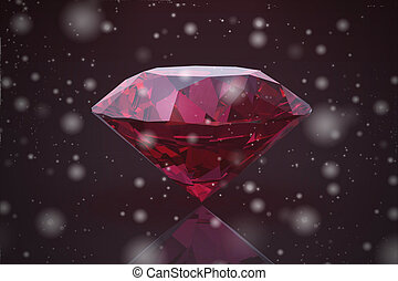ruby gem on white background (high resolution 3D image)
