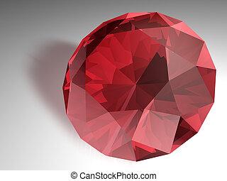 Ruby gemstone - Birthstone for July- Red Ruby