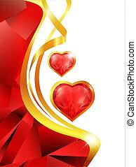 ruby heart frame