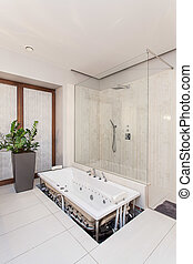 Ruby house - installation of new bath - Installation of new...