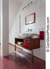 Ruby house - washbasin on couter top