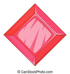 Ruby icon, cartoon style - Ruby icon. Cartoon illustration...