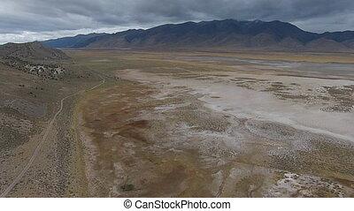 Ruby Mountains Range Nevada Aerial