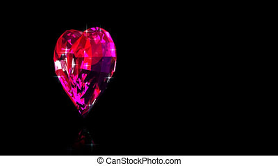 Ruby of heart - Render of red ruby in the form of heart...