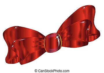 Ruby Red Bow