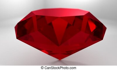 Ruby red gemstone gem stone spinning wedding background loop