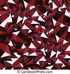 Ruby Red Polygon Vector Illustration