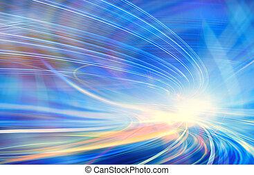 ruch, abstrakcyjny, szybkość
