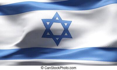 ruch, bandera, izrael, powolny