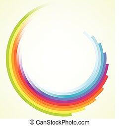 ruch, barwny, tło, okólnik