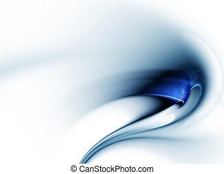 ruch, dynamiczny, błękitny