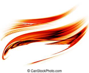 ruch, energia, czerwony, fałdzisty