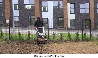 ruch, gimbal, gleba, stabilizator, wysiew, kultywowanie, ...