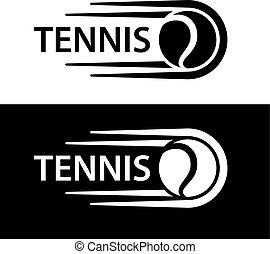 ruch, kreska, tenis, symbol, piłka