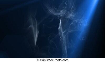 ruch, lekki, 4k, dym