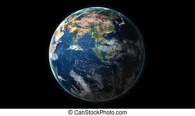 ruch obrotowy, earth's, hd, 028
