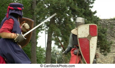 ruch, powolny, średniowieczny, bojowy