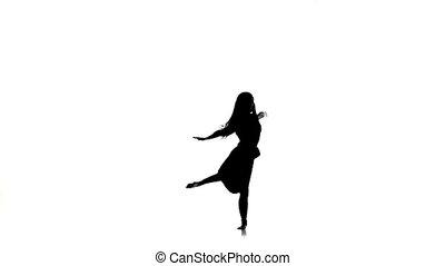 ruch, styl, powoli taniec, kroki, nowoczesna rówieśnica, ...