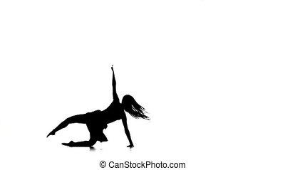 ruch, styl, szczupły, taniec, kroki, nowoczesna rówieśnica, ...