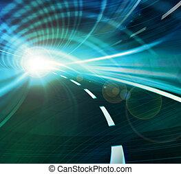ruch, szybkość, abstrakcyjny