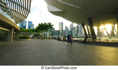ruch, timelapse, singapore.