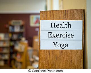 ruch, yoga, zdrowie, znak