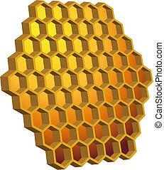 ruche, rayon miel